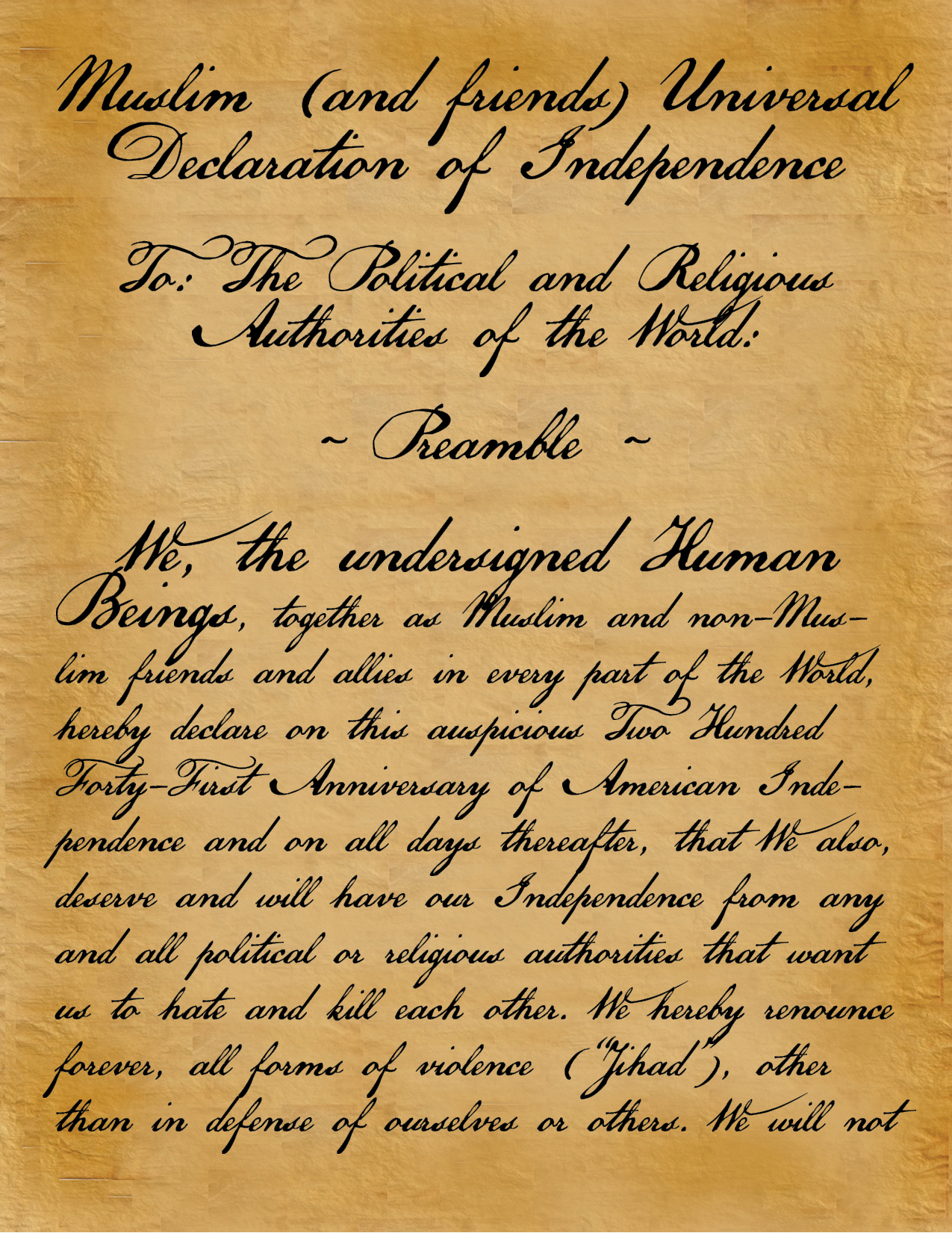 Muslim Declaration of Independence
