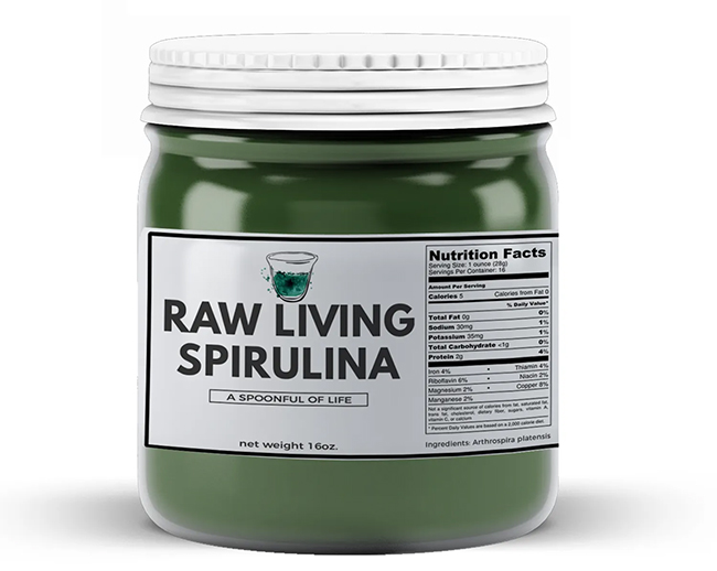 raw living spirulina